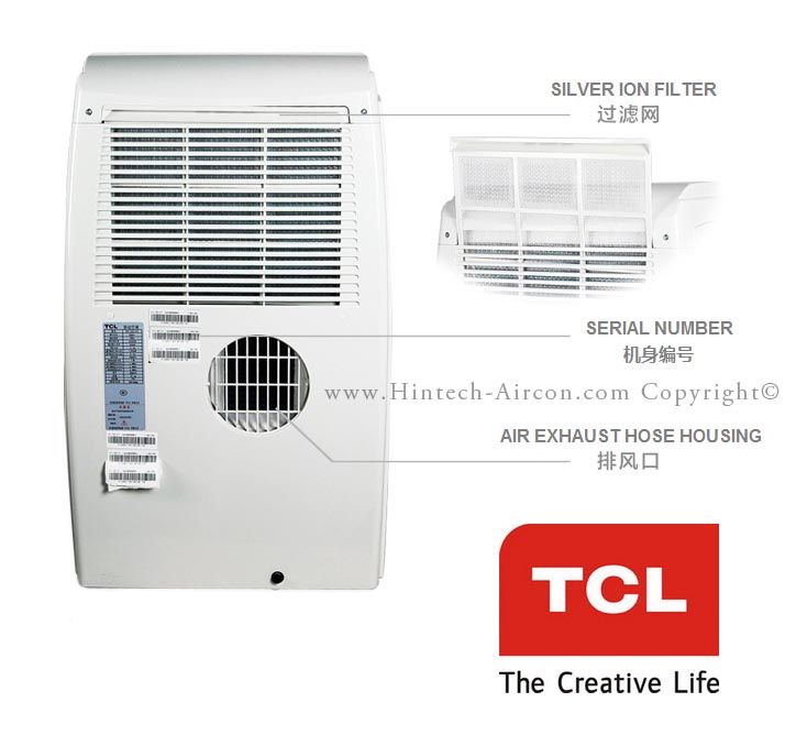 tcl-20000btu-portable-aircon-back