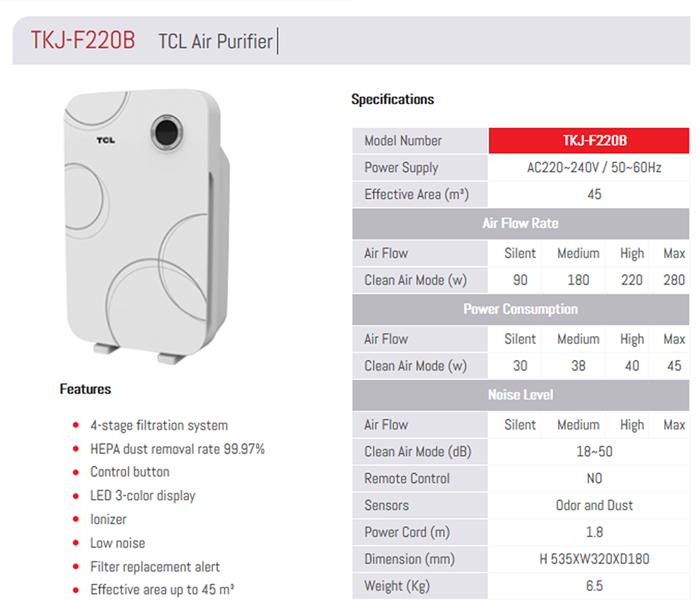TCL Air Purifier